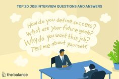 The top 20 most common interview questions employers ask, examples of the best answers, and how to respond to these typical interview questions. Administrative Assistant Interview Questions, Top Job Interview Questions, Administrative Jobs, Interview Questions And Answers, Interview Process, Job Interviews, Job Goals, Job Satisfaction, Job Search Tips