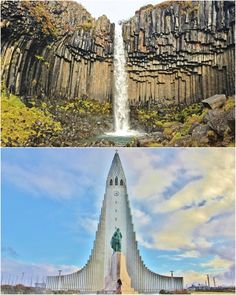 Iceland — just realized they built this church to look like the sides are pillars of basalt; soo creative!
