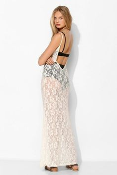 Pins And Needles Lace Maxi Slip #urbanoutfitters