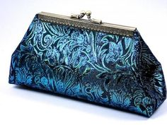 Peacock Blue Wedding Clutch