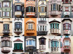 Een wereld van verschil: ramen en deuren aller landen in beeld. Hier: ramen in de Alpen.