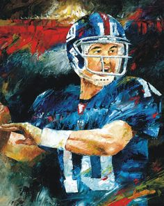Eli Manning Quarterback NY Giants Painting