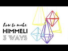 Himmeli 3 ways - Tutorial for creating geometric hanging decorations usi. Geometric Decor, Geometric Designs, Birthday Balloon Decorations, Hanging Decorations, Straw Sculpture, Drinking Straw Crafts, Dreamcatcher Design, Diys, Dollar Tree Decor