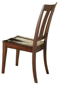 Liberty Furniture Tahoe Transitional Side Chair w/ Slat Back in Mahogany (Set of traditional dining chairs