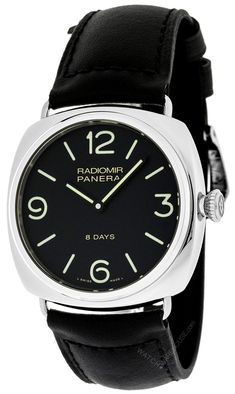 7d6ebd33af6  4187 - Buy authentic Panerai PAM00610 Radiomir Black Seal 8 Days Acciaio  Men Leather Watch On