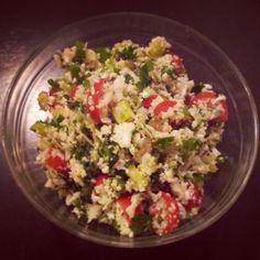 Cauliflower Tabbouleh    An awesome detox starter food!