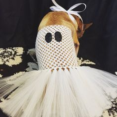The Spookity  ghost dog tutu ghost costume Halloween by TheTwirl