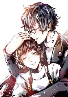 Oh no my hand slipped.ᕕ( ͡° ͜ʖ ͡°)ᕗ Also it's been awhile since i've drawn my God tier OTP so yay! Back to basics again Persona 5 Makoto, Persona 5 Anime, Persona 5 Joker, Persona 4, Persona 5 Tumblr, Persona 5 Memes, Manga Anime, Got Anime, Anime Art