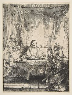 The Supper at Emmaus Rembrandt (Rembrandt van Rijn) (Dutch, Leiden 1606–1669 Amsterdam)