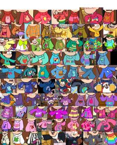 Every single sweater Mabel Pines wears in Gravity Falls. Every. Single. One.