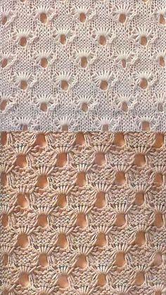 Ажурный узор 'Сеточка'. | вязание-узоры | Постила