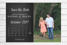 Calendar Save the Date by WritefullySimple on Etsy, $25.00