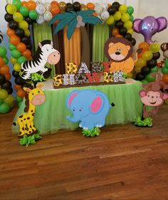 53 Trendy Baby Shower Ideas For Boys Jungle Safari Themed Birthday Parties Safari Party, Festa Safari Baby, Safari Theme Birthday, Safari Birthday Party, Animal Birthday, Jungle Theme Parties, Birthday Parties, Lion King Baby Shower, Baby Boy Shower