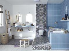 The 5 good ideas of this bathroom Modern Bathroom Design, Bathroom Interior, Bathroom Ideas, Games Design, Relax, Minimalist Bathroom, Living Room Modern, Master Bathroom, Blue Grey