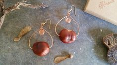 Autumn / Fall Style Real Conker / Chestnut by KinsaleConkers Conkers, Autumn Fall, Autumn Fashion, Jewellery, Drop Earrings, Trending Outfits, Natural, Unique Jewelry, Handmade Gifts