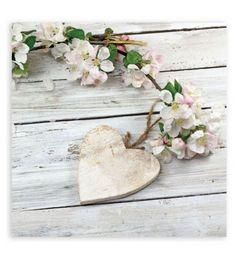 Cuadro de lienzo. Corazón con flores.