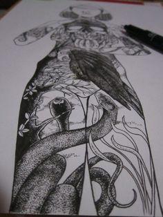 woman into the dead valey by alfin muhajir, via Behance