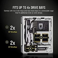 Corsair iCUE 220T RGB Airflow Mid-Tower PC Gaming Smart Case, Tempered Glass - White: Amazon.com.au: Computers & Accessories Electric Mirror, Pc Components, Drive Bay, Wood Doors, Computer Accessories, Light Up, Improve Yourself, Tower, Computers