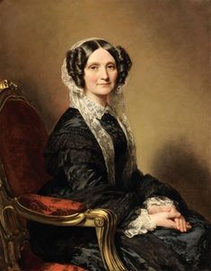 View Portrait de Madame François-Marie Delessert by Franz Xaver Winterhalter on artnet. Browse upcoming and past auction lots by Franz Xaver Winterhalter. Franz Xaver Winterhalter, 1850s Fashion, Victorian Fashion, European Dress, Hermitage Museum, Madame, Female Portrait, Fashion Art, Fashion Portraits