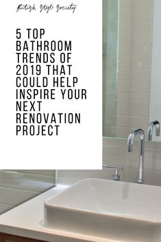 5 Top Bathroom Trends of 2019 That Could Help Inspire Your Next Renovation Project New Bathroom Designs, Bathroom Trends, British Style, Home And Living, Interior Inspiration, Living Spaces, Inspire, Interiors, Projects
