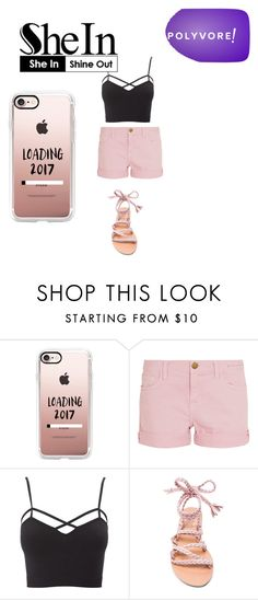 """""""Bez naslova #5"""" by adela-mehmedovic ❤ liked on Polyvore featuring Casetify, Current/Elliott, Charlotte Russe, Ancient Greek Sandals and plus size clothing"""