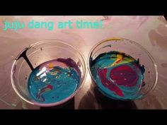 7 colors dirty pour flip cup - liquid art with acrylics - cell art - YouTube