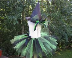 Etsy shop sells kit to make costume. Also has tutorial on how to make skirt and list of materials needed. Could be used for Abby Cadaby costume? Witch Tutu Costume, Tutu Costumes, Costume Ideas, Halloween Costumes For Kids, Halloween Diy, How To Make Skirt, Diy Tutu, Wicked Witch, Diy For Girls