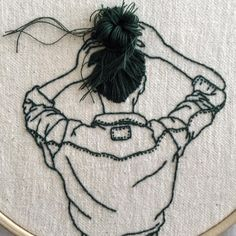 Sometimes it's harder to photograph the details than to sew them. #embroidery #embroideryhoop #embroideryart #handembroidery