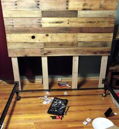 Simple Pallet Headboard layout