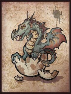 Dragon from egg by ~Verlioka on deviantART