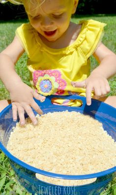 Popping Rice Sensory Play - Pinned by @PediaStaff – Please Visit ht.ly/63sNtfor all our pediatric therapy pins