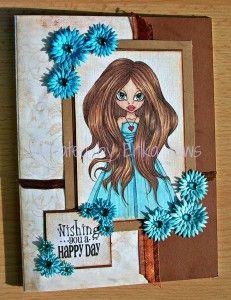 Card Created by Erika Paws Using Diemond Dies Fancy Flowers Die Set.