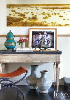 Eclectic living room pieces | Eclectic > Living Rooms | LUXE Source