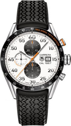 @tagheuer Watch Carrera #bezel-fixed #bracelet-strap-rubber #brand-tag-heuer #case-material-steel #case-width-43mm #chronograph-yes #date-yes #delivery-timescale-4-7-days #description-done #dial-colour-white #gender-mens #luxury #movement-automatic #official-stockist-for-tag-heuer-watches #packaging-tag-heuer-watch-packaging #style-sports #subcat-carrera #supplier-model-no-car2a12-ft6033 #warranty-tag-heuer-official-2-year-guarantee #water-resistant-100m