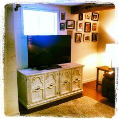 My shabby chic tv stand love love love!