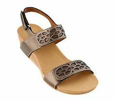 9a63a33f80e Clarks Bendables Alto Anthem Leather Wedge Sandals Leather Wedge Sandals