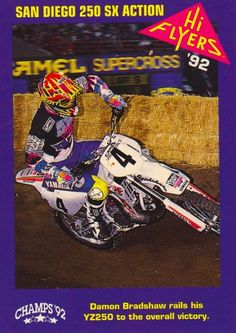 Hi Flyers Motocross Trading cards Beast From The East, Off Road Racing, Dirtbikes, Damon, Motocross, Champs, Biking, Trading Cards, Flyers