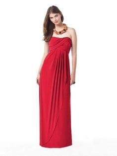 red floor length dresses