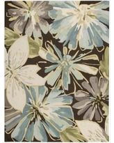 Nourison Hand-hooked Fantasy Brown Rug (8' x 10'6) (1) (Acrylic, Floral)