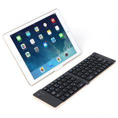 b986ceaa7d2 F66 Universal Foldable Bluetooth Keyboard with Stand - Golden Bluetooth  Keyboard, Computer Keyboard, Computer