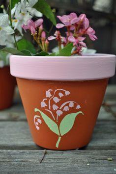 Make it Monday: Botanical Flower Pots | Paint Me Plaid