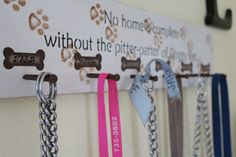 Wood Dog Leash Hanger Sign  Personalized  5 to 6 by CraftedbyGale, $25.00