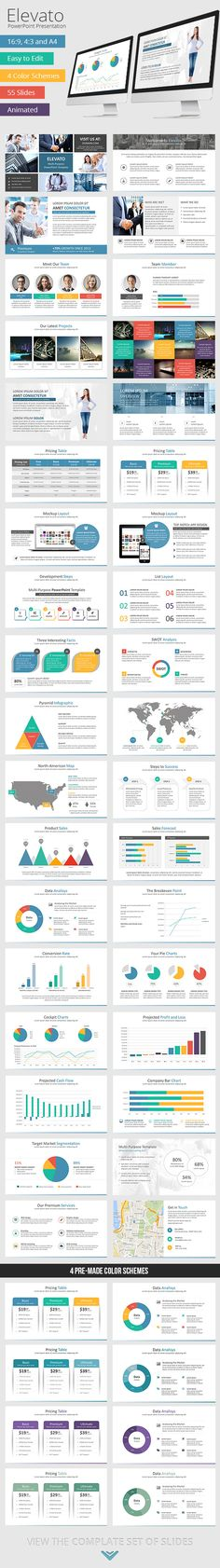 27 best powerpoint templates images on pinterest business elevato powerpoint presentation template flashek Image collections