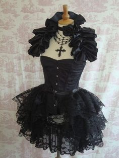 ENCHANTMENT Lace Burlesque Bustle Skirt Gothic STEAMPUNK BUSTLE By Gothic Burlesque on Etsy, $54.00