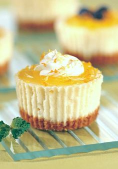 The Flying Couponer. Mini Lemon Cheesecake Cupcakes that everyone will enjoy. Layered with a graham cracker crust and cheesecake. Mini Cheesecake Recipes, Low Carb Cheesecake, Cupcake Recipes, Raspberry Cheesecake, Oreo Cheesecake, Mini Cheesecake Cupcakes, Snack Recipes, Sweets Recipes, Cooking Recipes