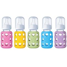 Lifefactory Baby Bottles, 4 oz, $14.99, 9 oz, $16.99; Lifefactory.com Glass bottles are one of the first switches you might make if you're concerned about chemicals. These are made in the U.S. or Europe, from non-toxic glass that's free of BPA, BPS, and phthalates. Even the straw is medical-grade silicone, not plastic.