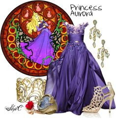 Outfit inspired by the Disney Princess Aurora from Sleeping Beauty. Disney Inspired Dresses, Princess Inspired Outfits, Disney Princess Outfits, Disney Inspired Fashion, Disney Bound Outfits, Disney Dresses, Prom Dresses, Disney Clothes, Disney Fashion