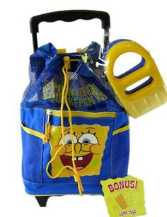 Nick Jr Spongebob rolling backpack with sand toys * Check this awesome product by going to the link at the image. (This is an Amazon Affiliate link and I receive a commission for the sales)