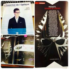 A superbe two page spread on Parasite Eyewear in the October issue of L'essential Details l'Optique. A grandiose text as they like to do.