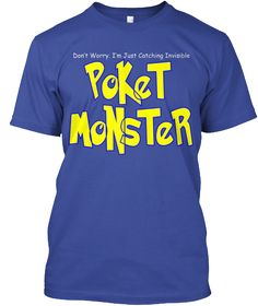 Poket Monster Deep Royal T-Shirt Front